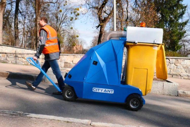 Уличный пылесос для листьев и мусора